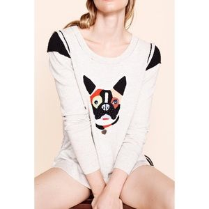 Lisa Todd French Bulldog Cotton Cashmere Sweater